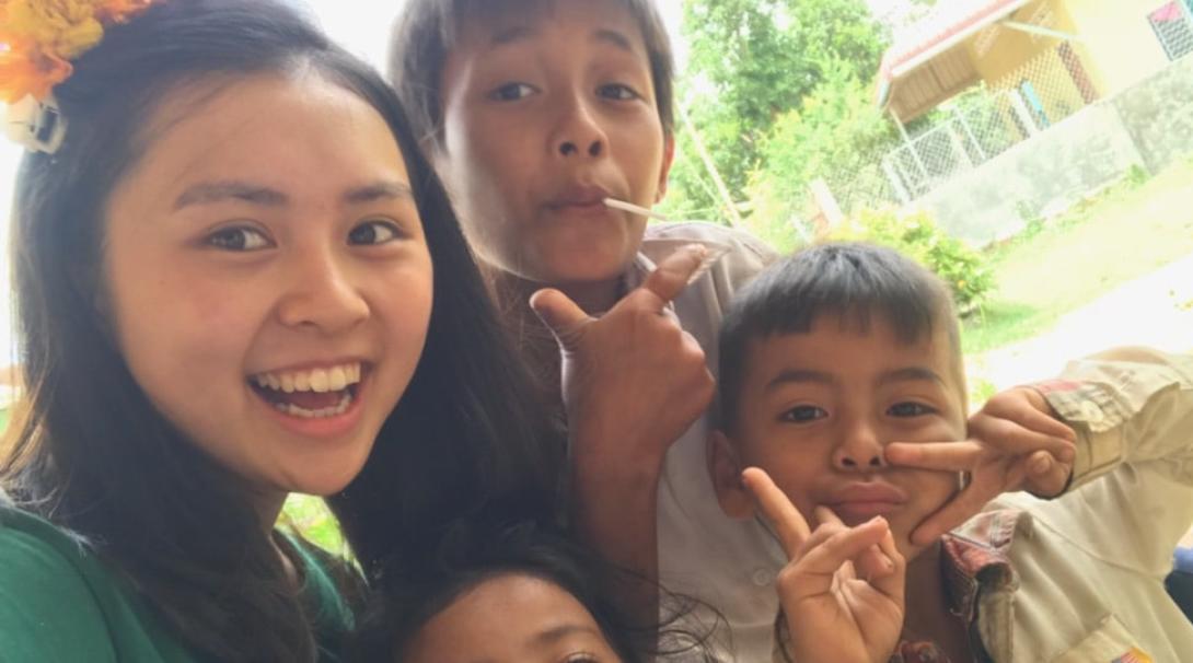 カンボジアでチャイルドケア&地域奉仕活動 石川柚葉